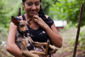 Who We Are - Global Glimpse student and local dog