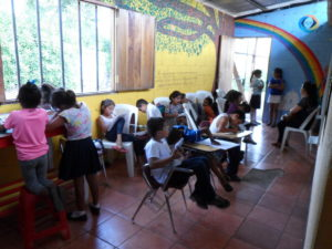 Kids we met doing some learning