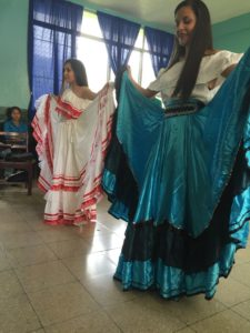 Students in the Access Program demonstrate a traditional Nicaraguan dance for us.