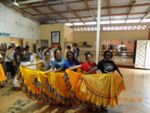 Traditional skirts worn during the Nicaraguan traditional dances.