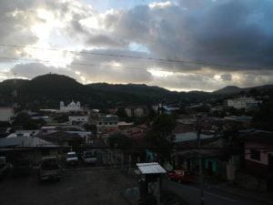 Beautiful sunset from Hostel Castillo.
