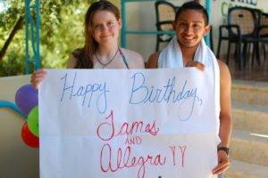 Happy Birthday James and Allegra!