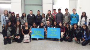 Group photo at airport