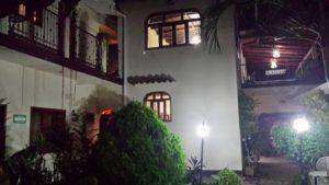 Hostel Santiago at night