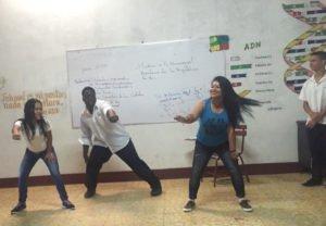 Kay'on teaches american dances