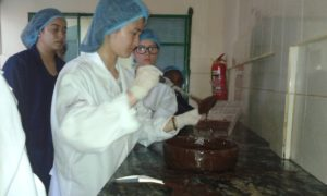 Amy making chocolate!