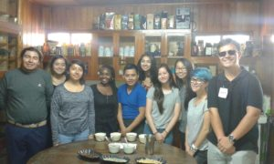The group had a great time learning how coffee is made!
