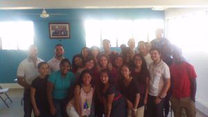 A Group photo with Interact and Rotaract youth